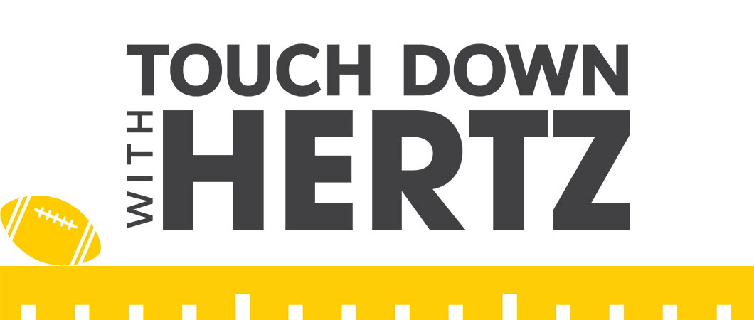 Touch down with Hertz for the big game.